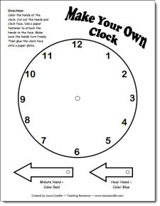 Free Make Your Own Clock Pattern and other printables for time and