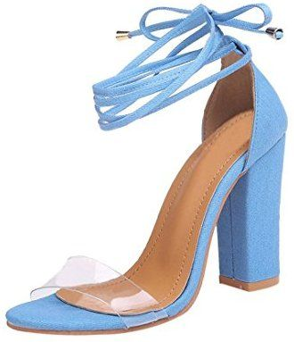 67ca94b2028eaf Btruely High Heel Sandaletten Damen Riemchensandaletten Glitzer Sandaletten  High Heels Schuhe Elegante Abendschuhe Hochzeit Knöchelriemen Sandalen