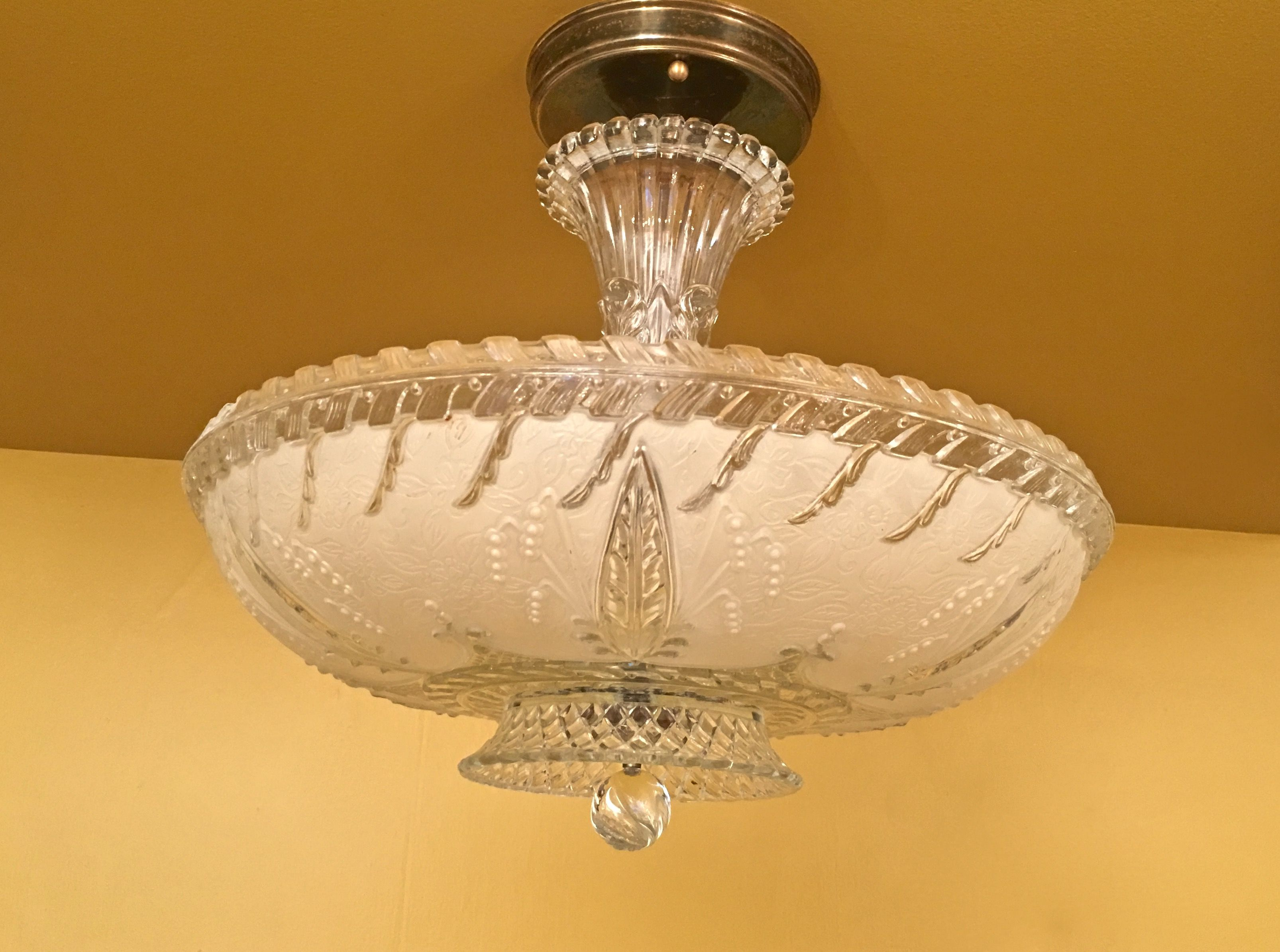 Stunning 1940s porcelier light fixture
