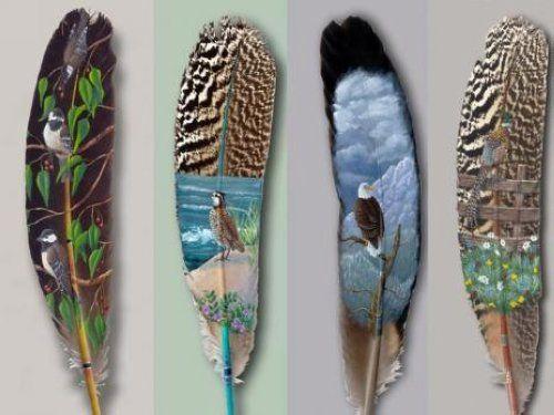 Pintura Sobre plumas: plumas Pinturas