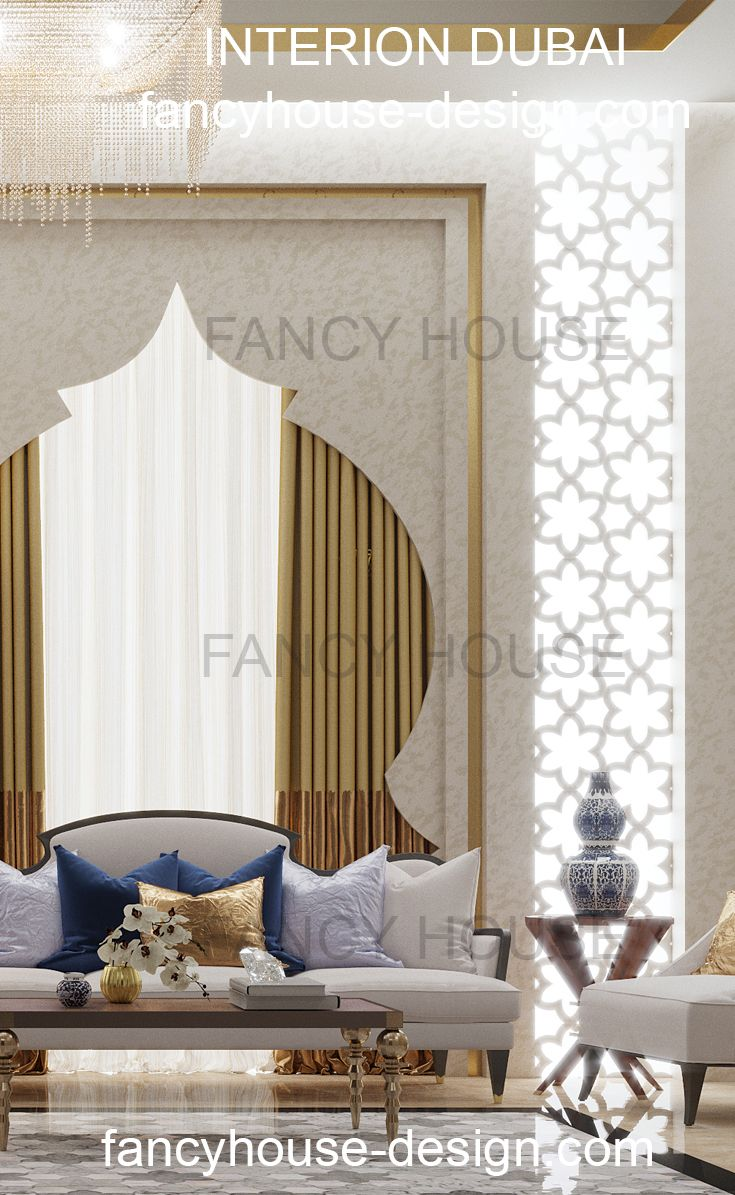 Majlis seating moroccan style 3D Interrior