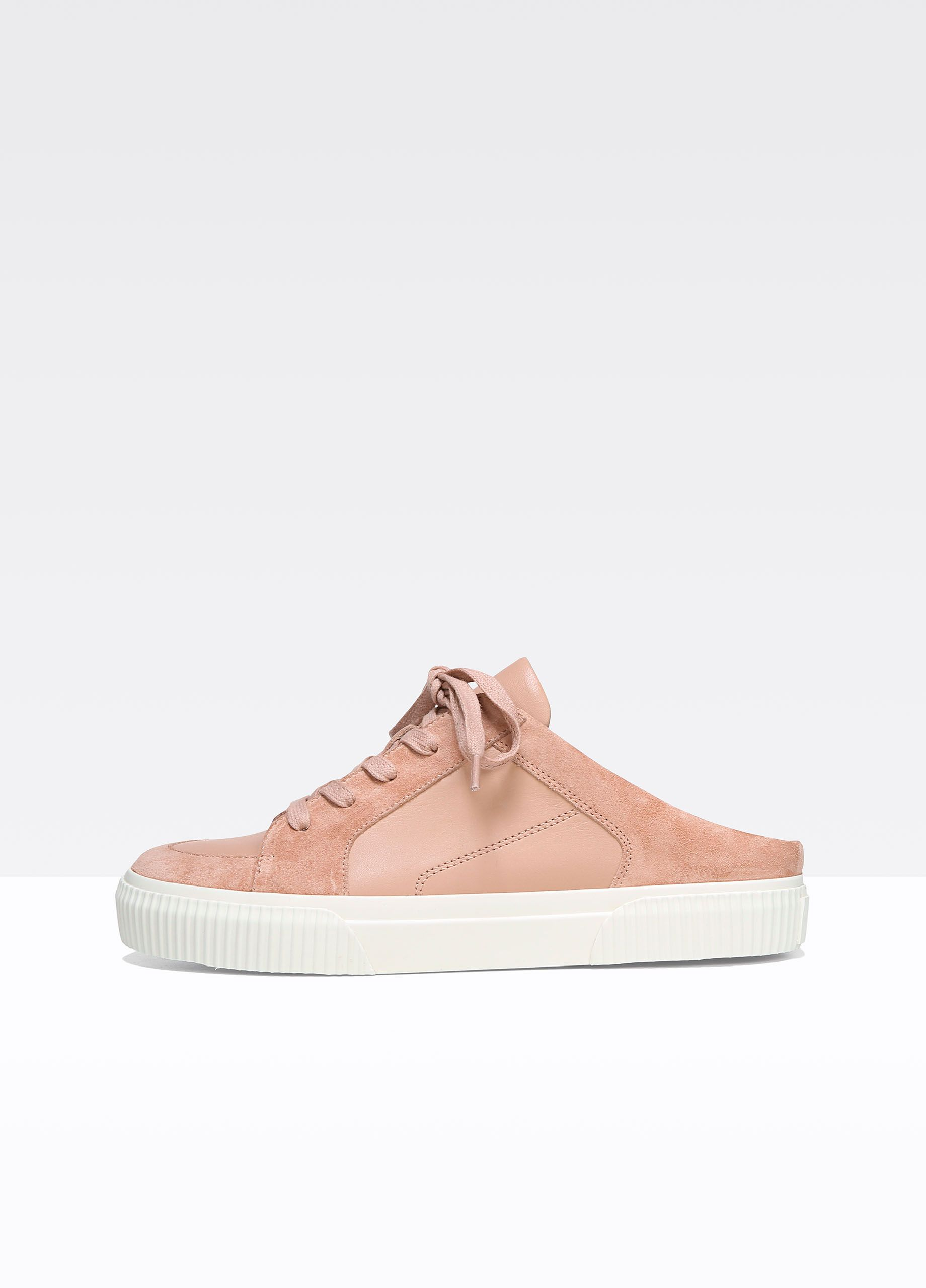 dd028a0ca25a2 Kess Backless Leather and Suede Sneakers