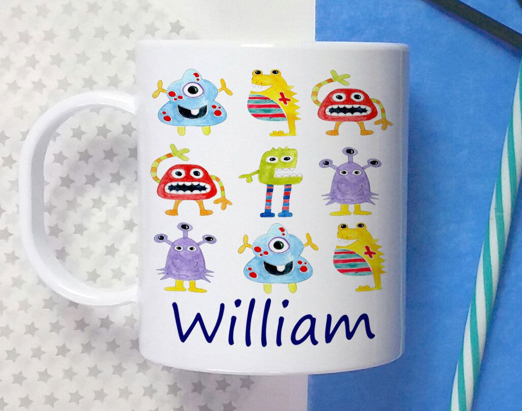 Childs CupToddler Cup Kids Christening GiftBaptism Gift1st Birthday GiftPersonalised Aliens By TigerlilyprintsLtd On Etsy