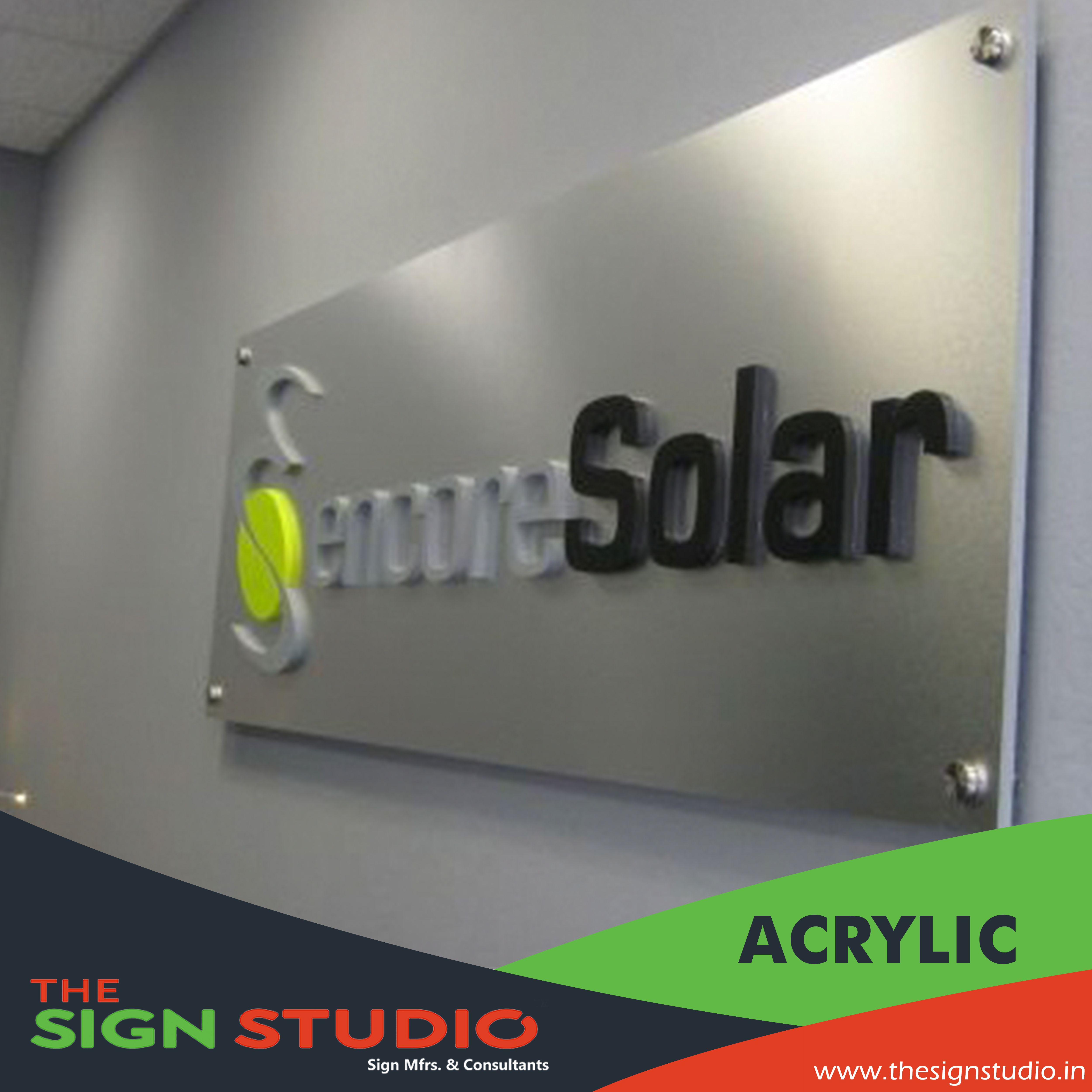 THE SIGN STUDIO manufactures Acrylic signboard, indoor and