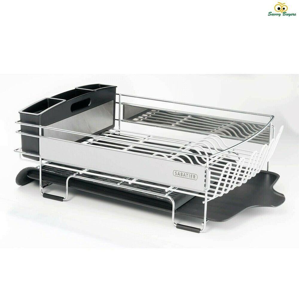 Sabatier Expandable Compact Dish Rack With Stemware Rack Brand