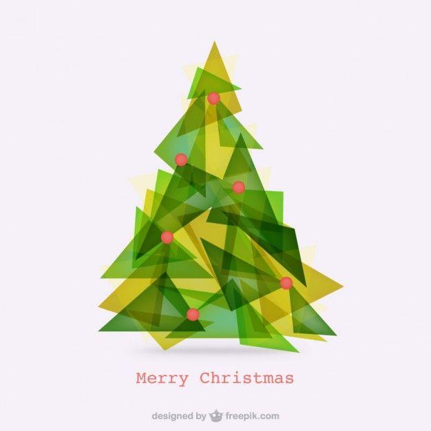 Abstract Polygonal Christmas Tree Free Vector Christmas Card Design Christmas Poster Christmas Vectors