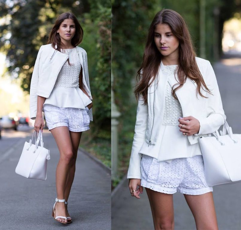 Pin by Norah Huang on white | Fashion, Street style, Shorts