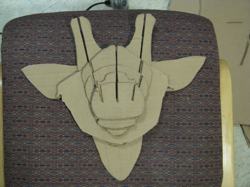instructables diy cardboard animal bust