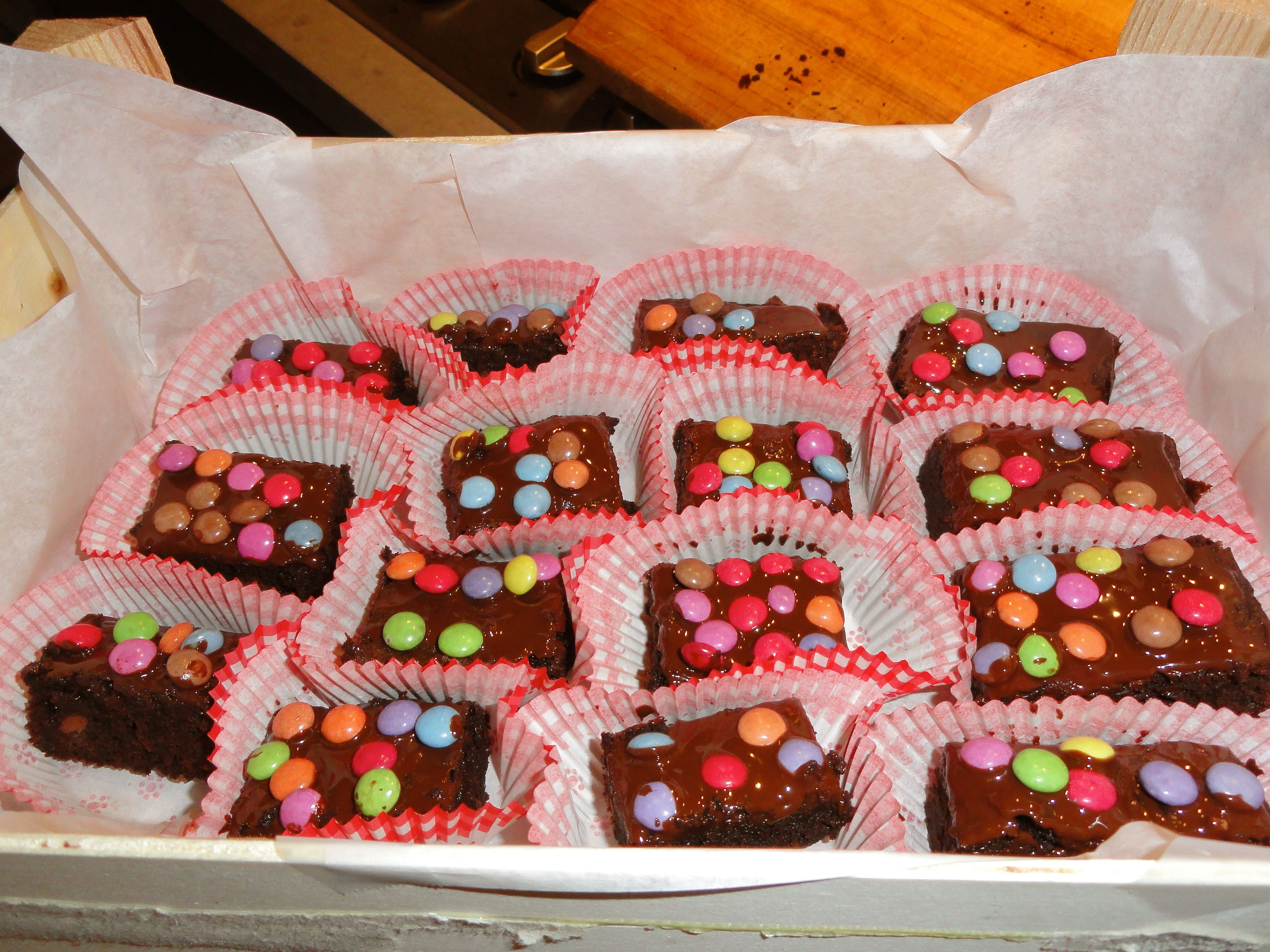 Brownies with Smarties