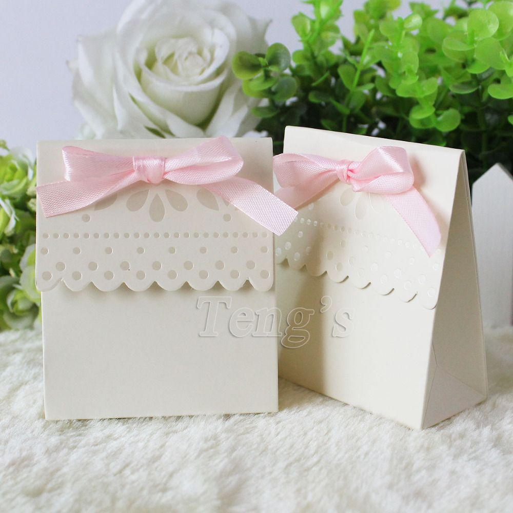 Free Shipping 50Pcs/Lot Party Wedding Favor Boxes Bags Baby Shower ...