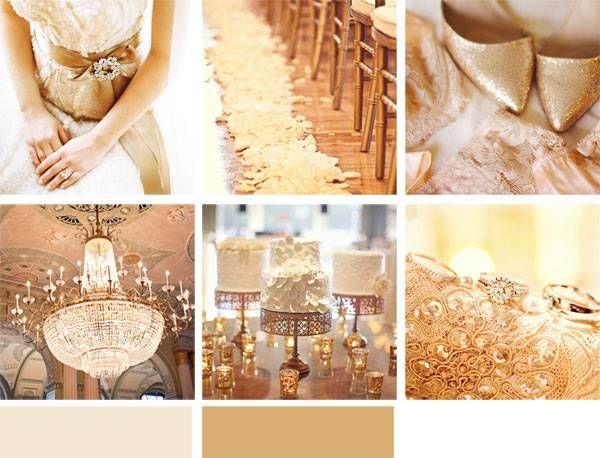 wedding color palette gold