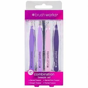 Brushworks Tweezers  HD Combination Tweezer Set