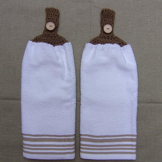 hanging kitchen dish towel, set of 2, white kitchen towel