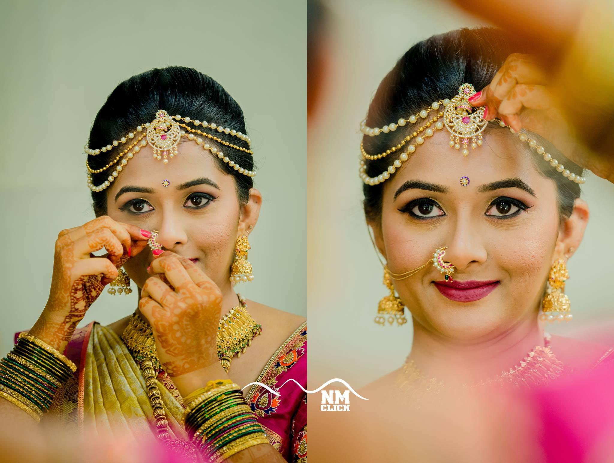 bridal nethichtti | nethi chutti | south indian bride
