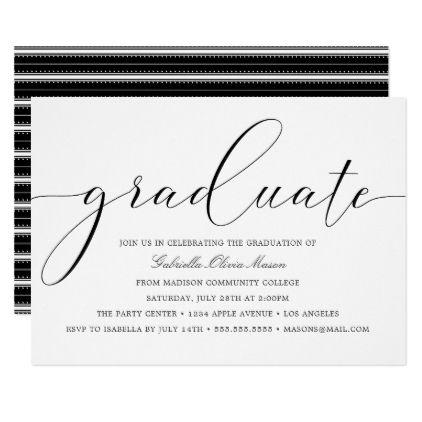 Custom year elegant graduate graduation party card party gifts custom year elegant graduate graduation party card filmwisefo