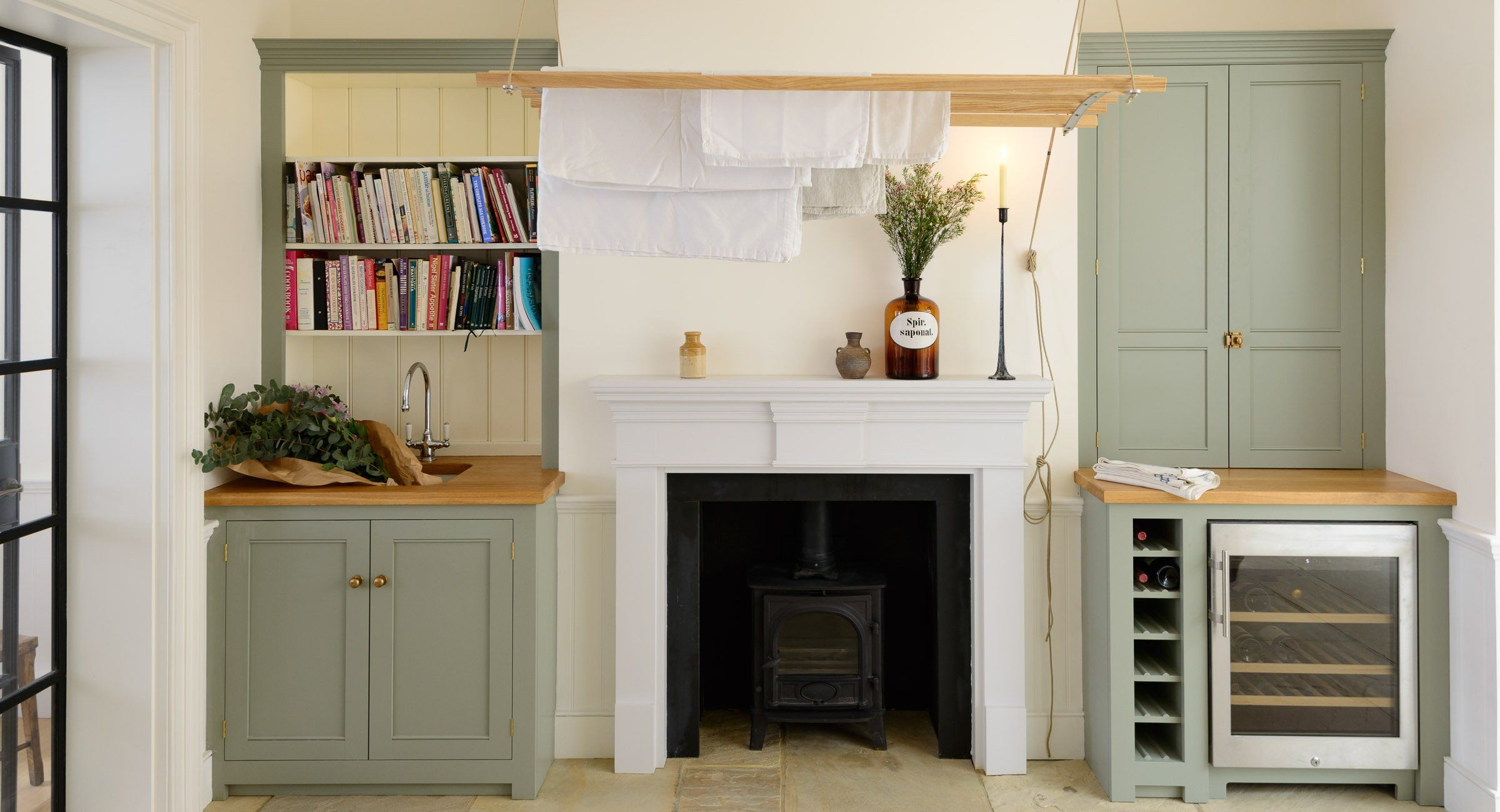 Islington N1 Kitchen | deVOL Kitchens | FIREPLACE CABINETS | Pinterest