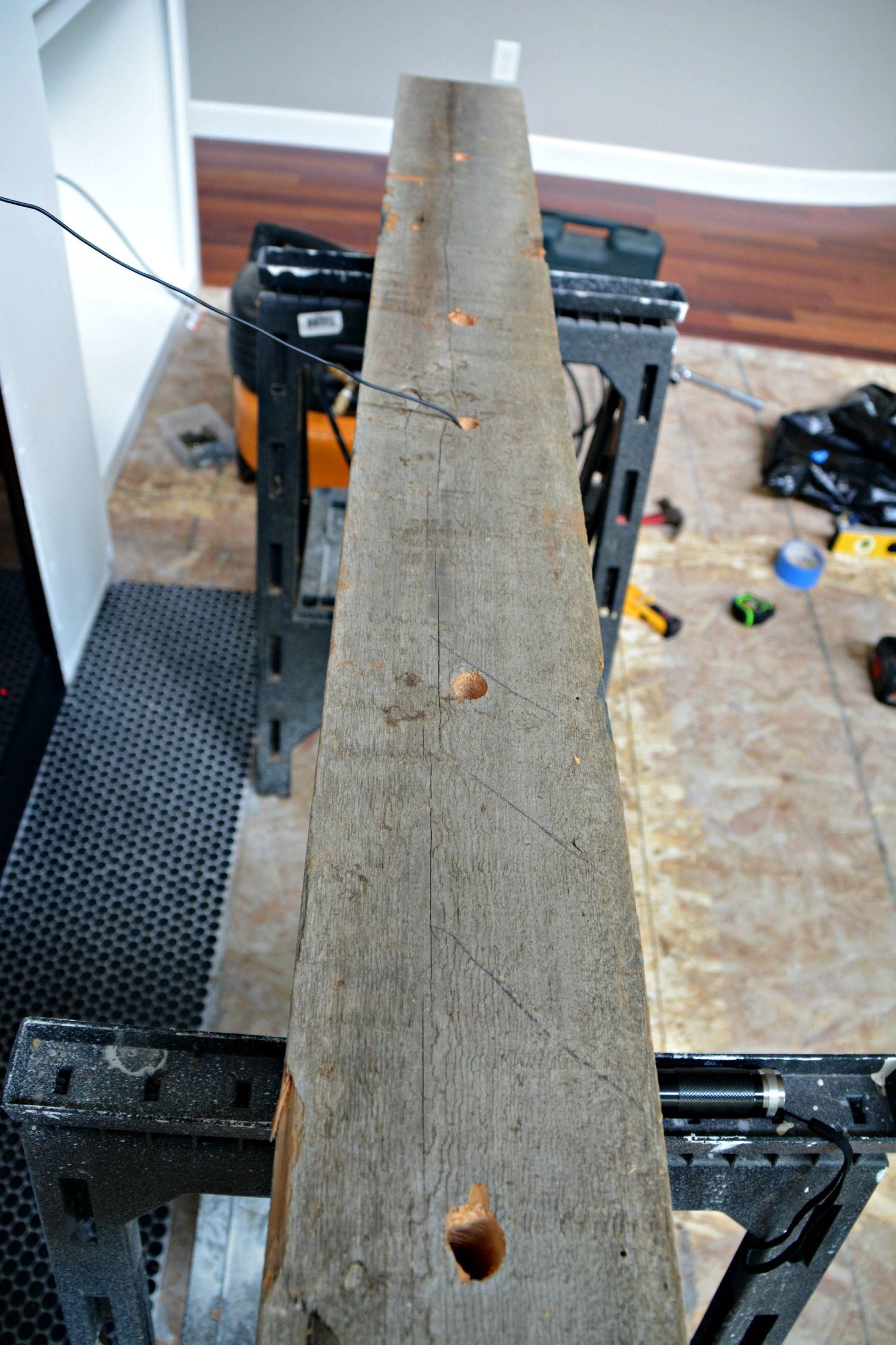 How Install A Barn Beam Mantel Country Convo Shiplap