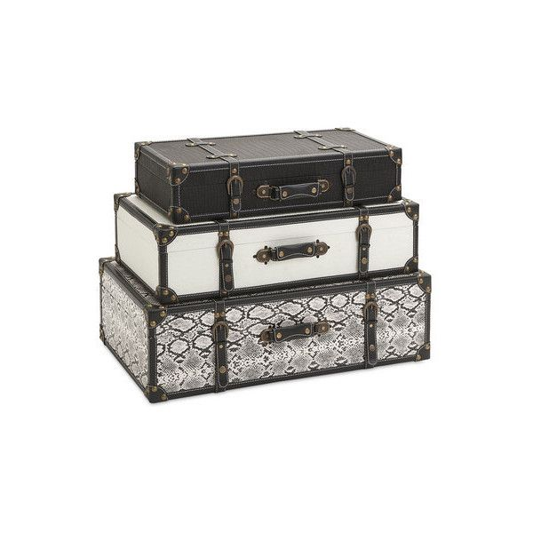 Imax Home 47560 3 Aberdeen Storage Trunks Set Of 3 Home Decor Found On