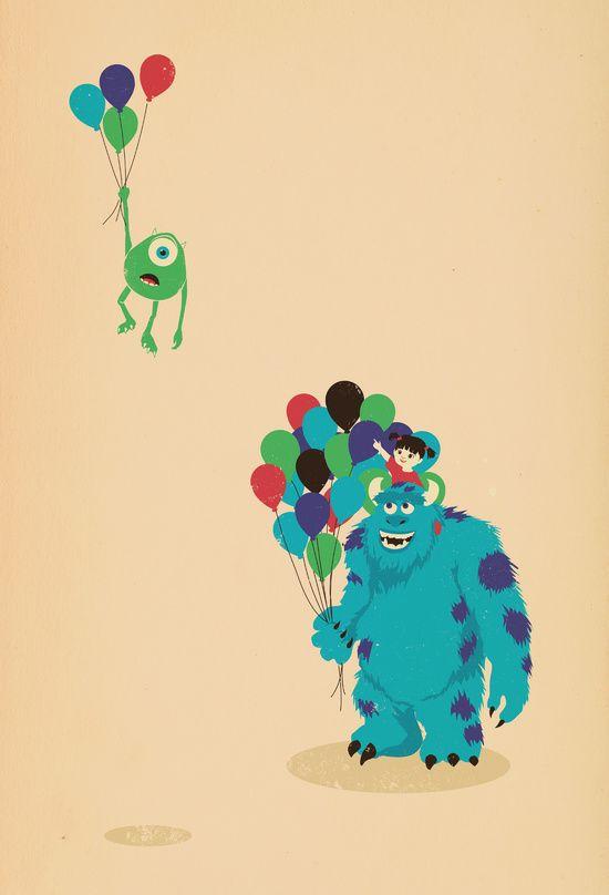 Mike Wazowski!   Jay Fleck #monstersinc #artprint