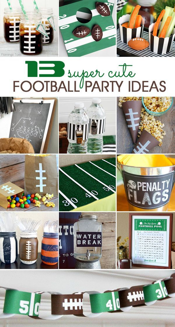 13 Super Cute Football Party Ideas #footballpartyfood