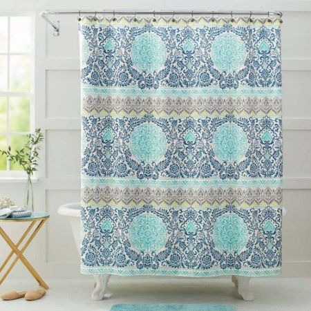 Better Homes And Gardens Layered Medallion Shower Curtain