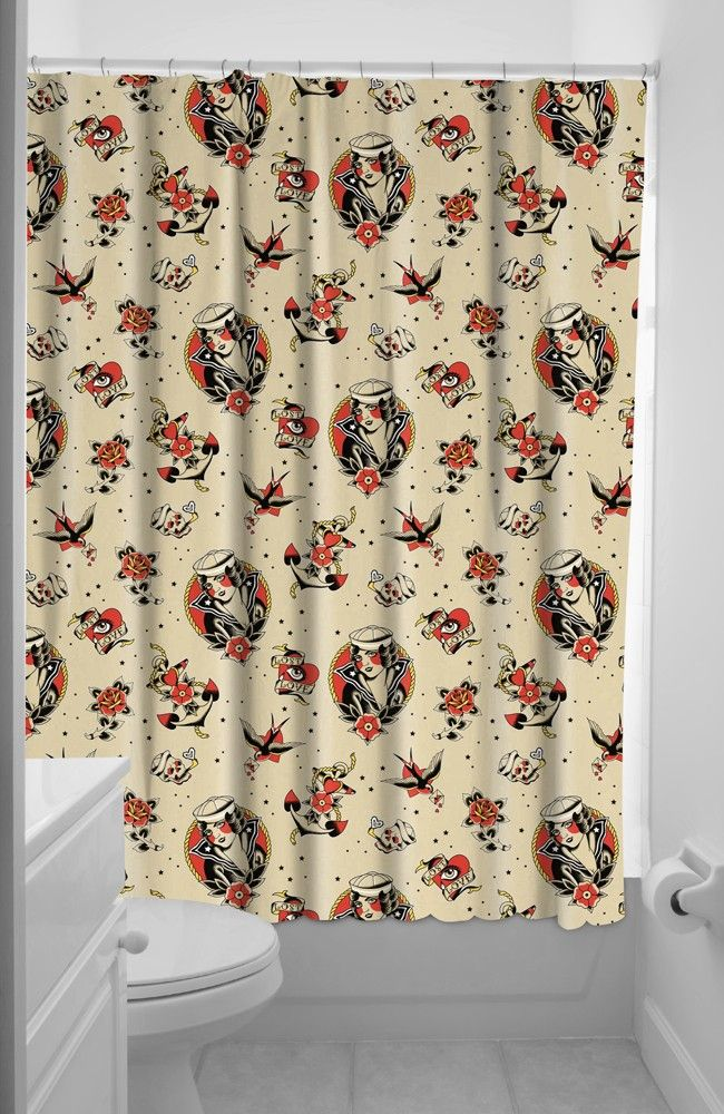 Lost Love Shower Curtain Fabric Shower Curtains Curtains