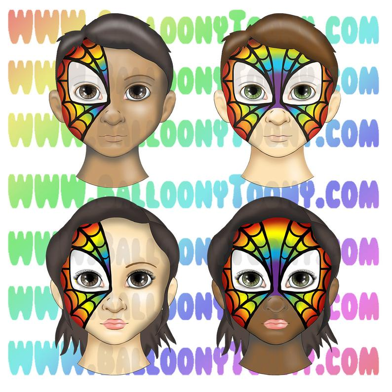 Face Paint Menu Spiderman Spidergirl Mask Face Paint 48 Etsy In 2020 Mask Face Paint Face Painting Face Painting Designs