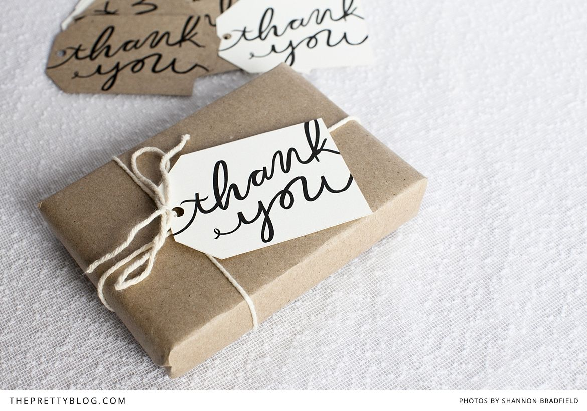Free printable 'Thank You' tags {printable download requires a quick account sign up; it's free}