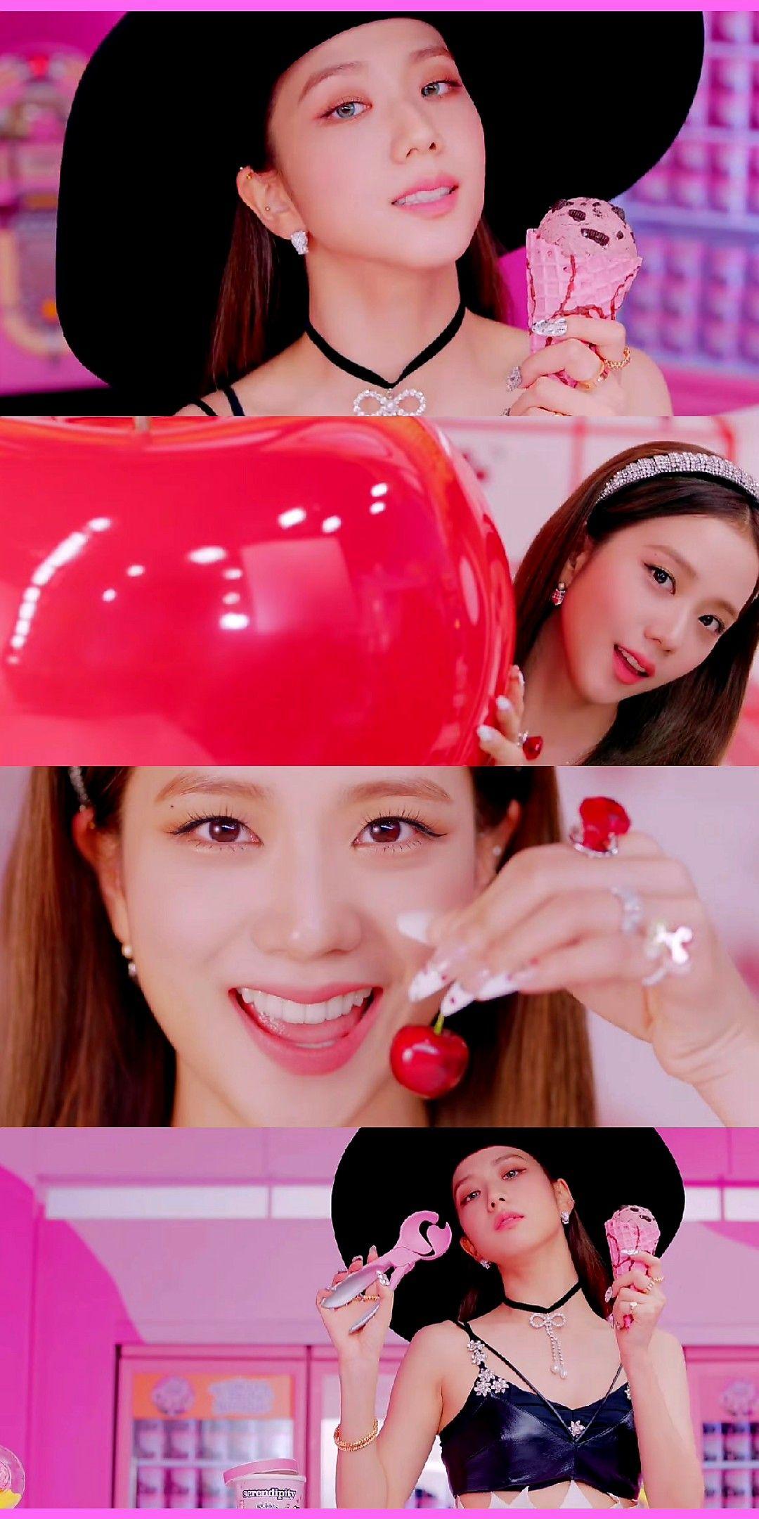 Blackpink Jisoo Ice Cream Lockscreen Wallpaper em 2020 ...