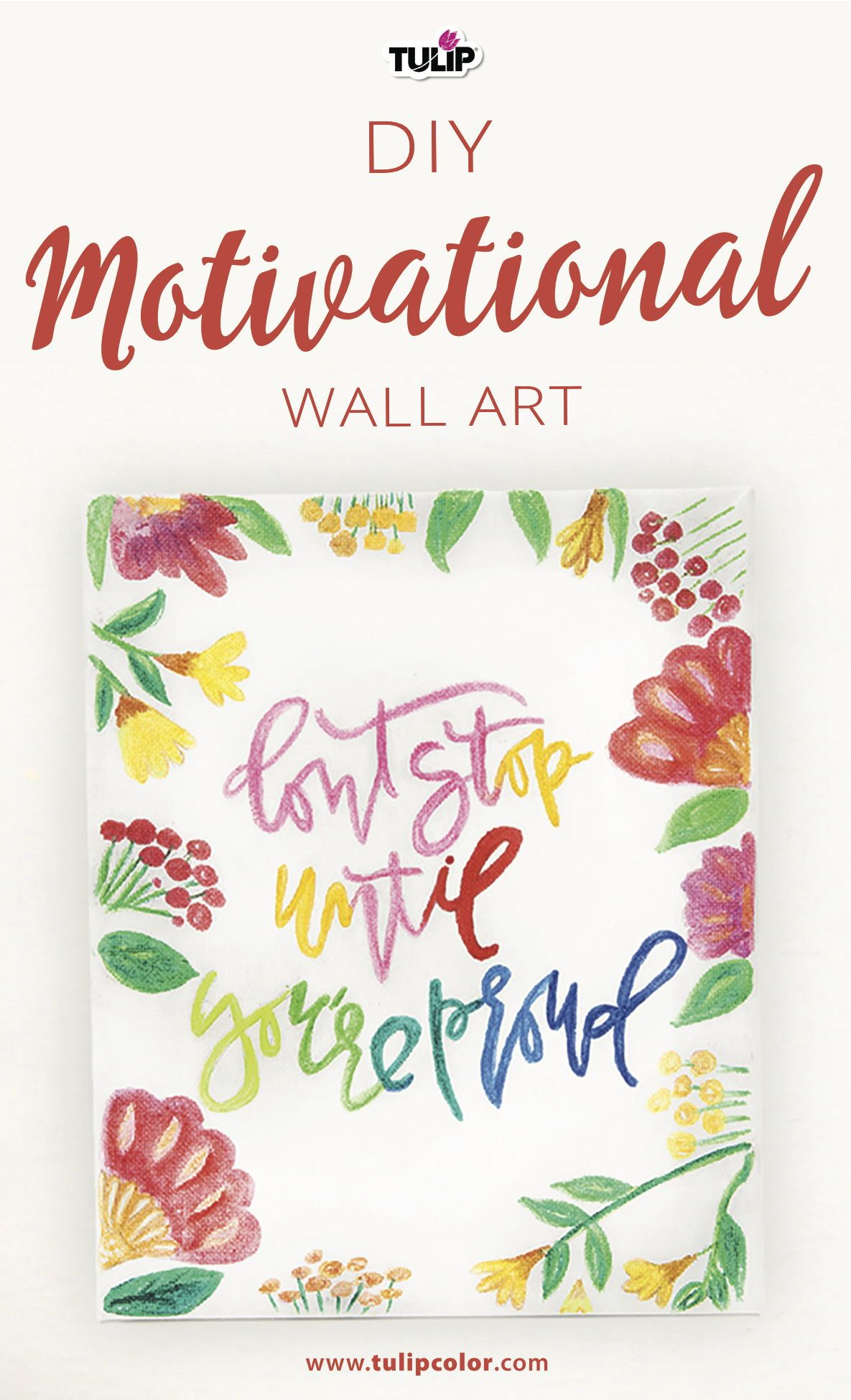 Makeover Your Space With This Simple Diy Motivational Wall Art