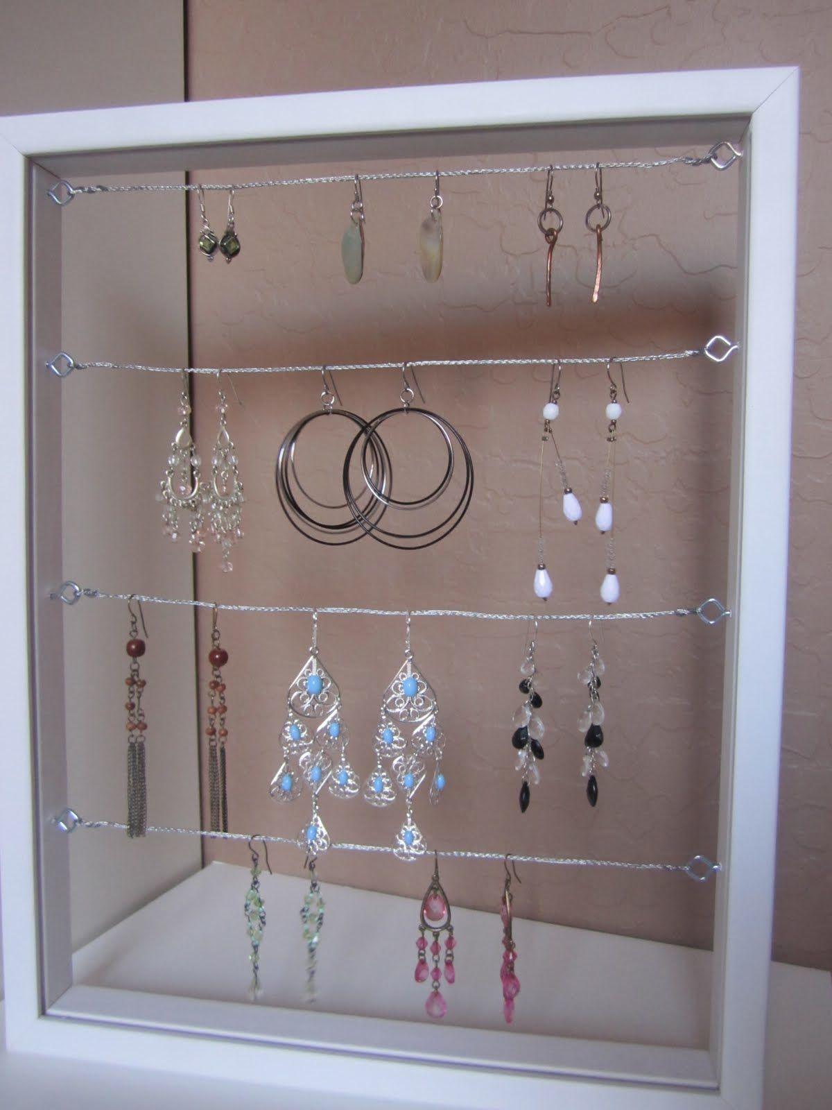 diy earring holder a home pinterest d co maison deco et maison. Black Bedroom Furniture Sets. Home Design Ideas