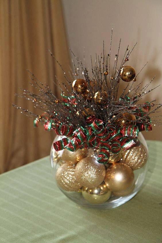 Centros de mesa con esferas navide as by artesydisenos - Centros de mesa navidenos manualidades ...