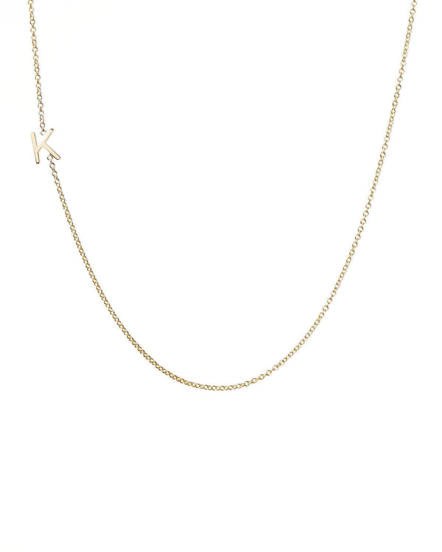 1f7b9f06e Maya Brenner Designs 14k Yellow Gold Mini Letter Necklace | Neiman Marcus