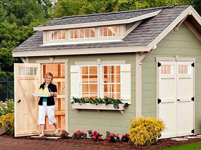 The 25 best craftsman sheds ideas on pinterest man cave for Craftsman style storage sheds