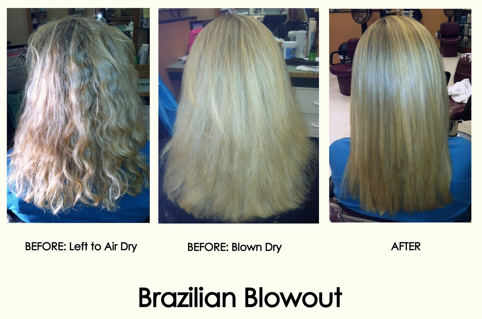Jahjong Brazilian Blowout Before And After Photos If You Have Naturally Curly Unruly Hair That Takes Foreve Brazilian Blowout Blowout Curls Diy Hairstyles