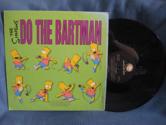 Rare Vintage The Simpsons Do The Bartman Vinyl Lp Record Album 12 Single Original Us 1st Press Gold Stamp Prom Retro Music The Simpsons 80s Cartoons