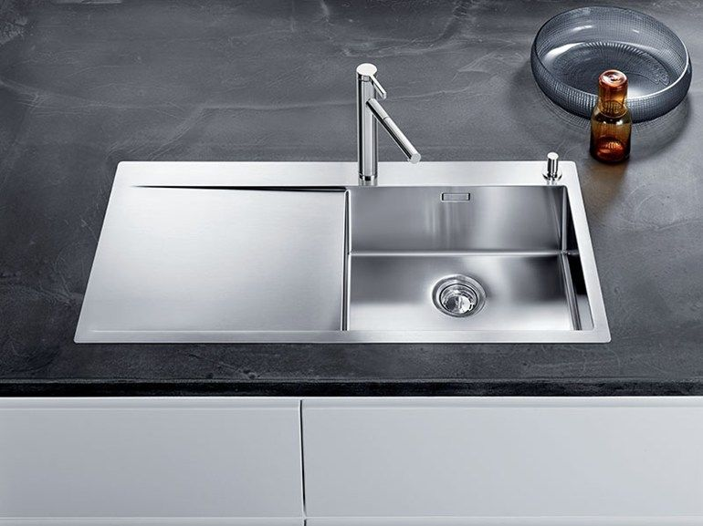 Built In Stainless Steel Sink With Drainer BLANCO FLOW XL 6 S IF By