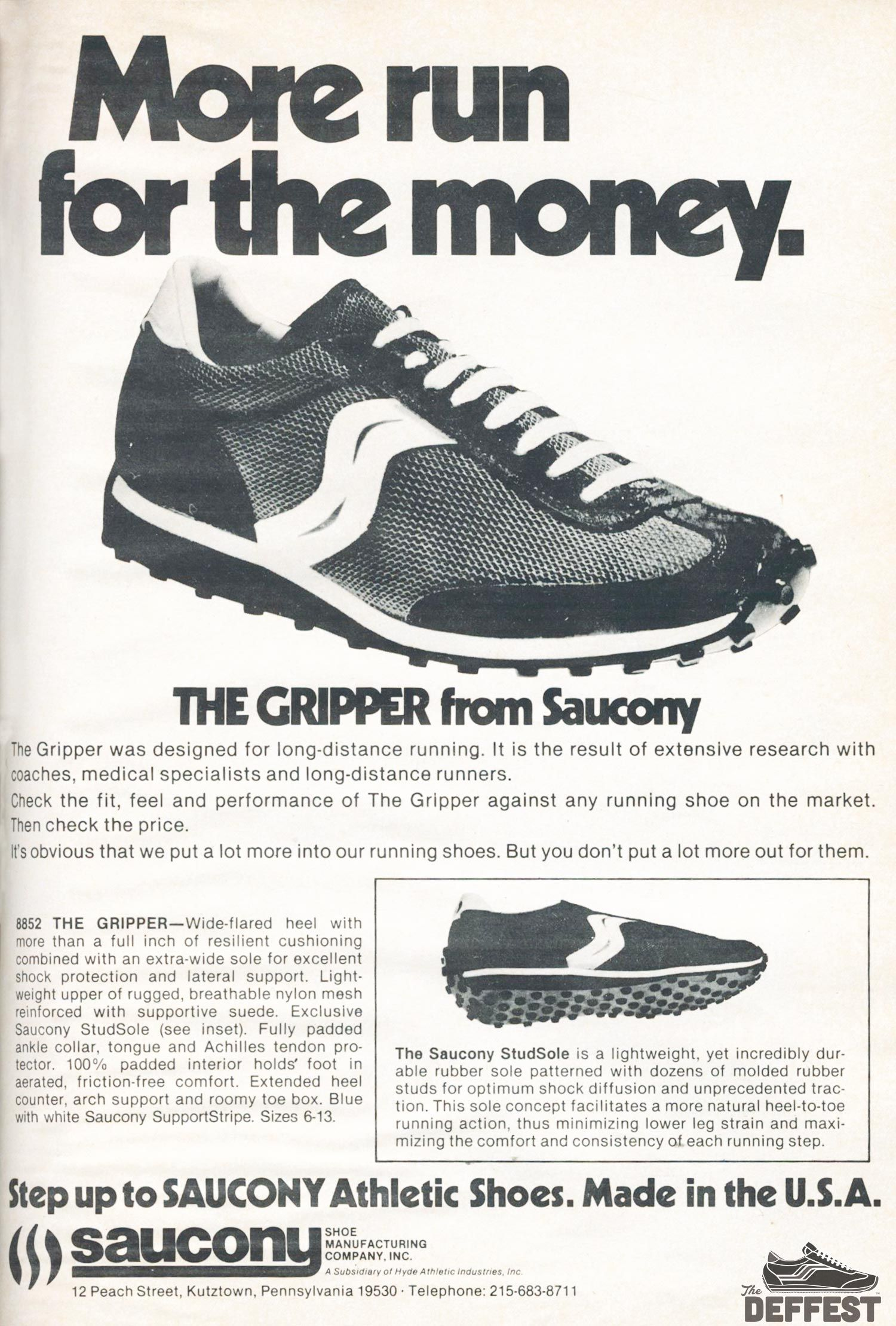 saucony shoes are made in