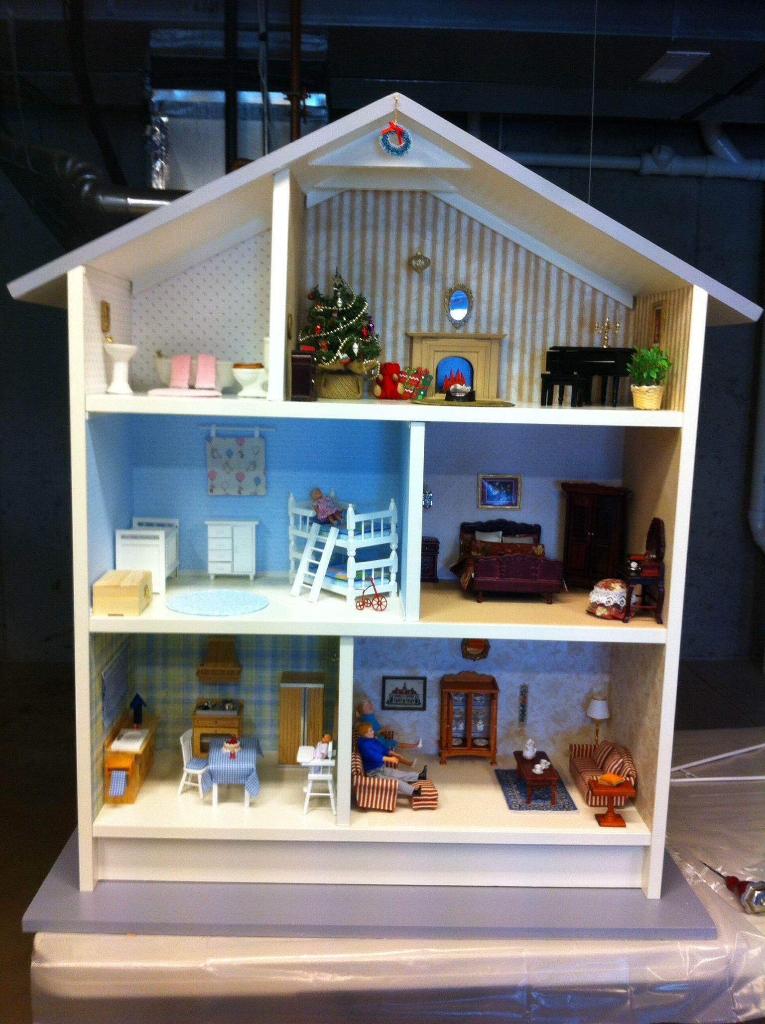 doll house from ikea billy bookcase puppen kinderzimmer spielzeug. Black Bedroom Furniture Sets. Home Design Ideas