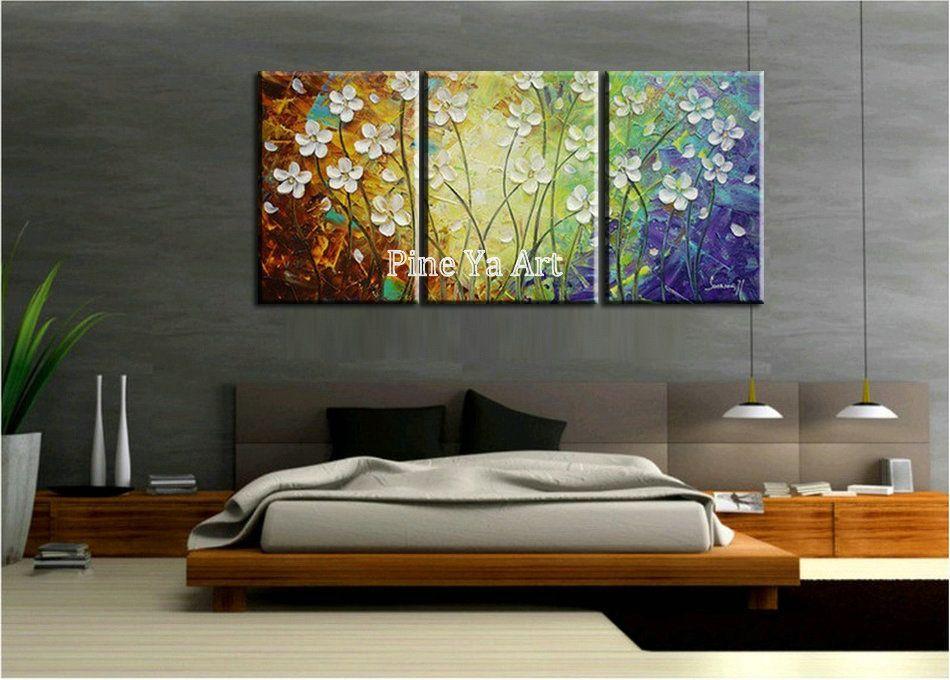 3 peça moderne mur de toile art triptyque panneau Muti abstrait - peinture blanche pour mur