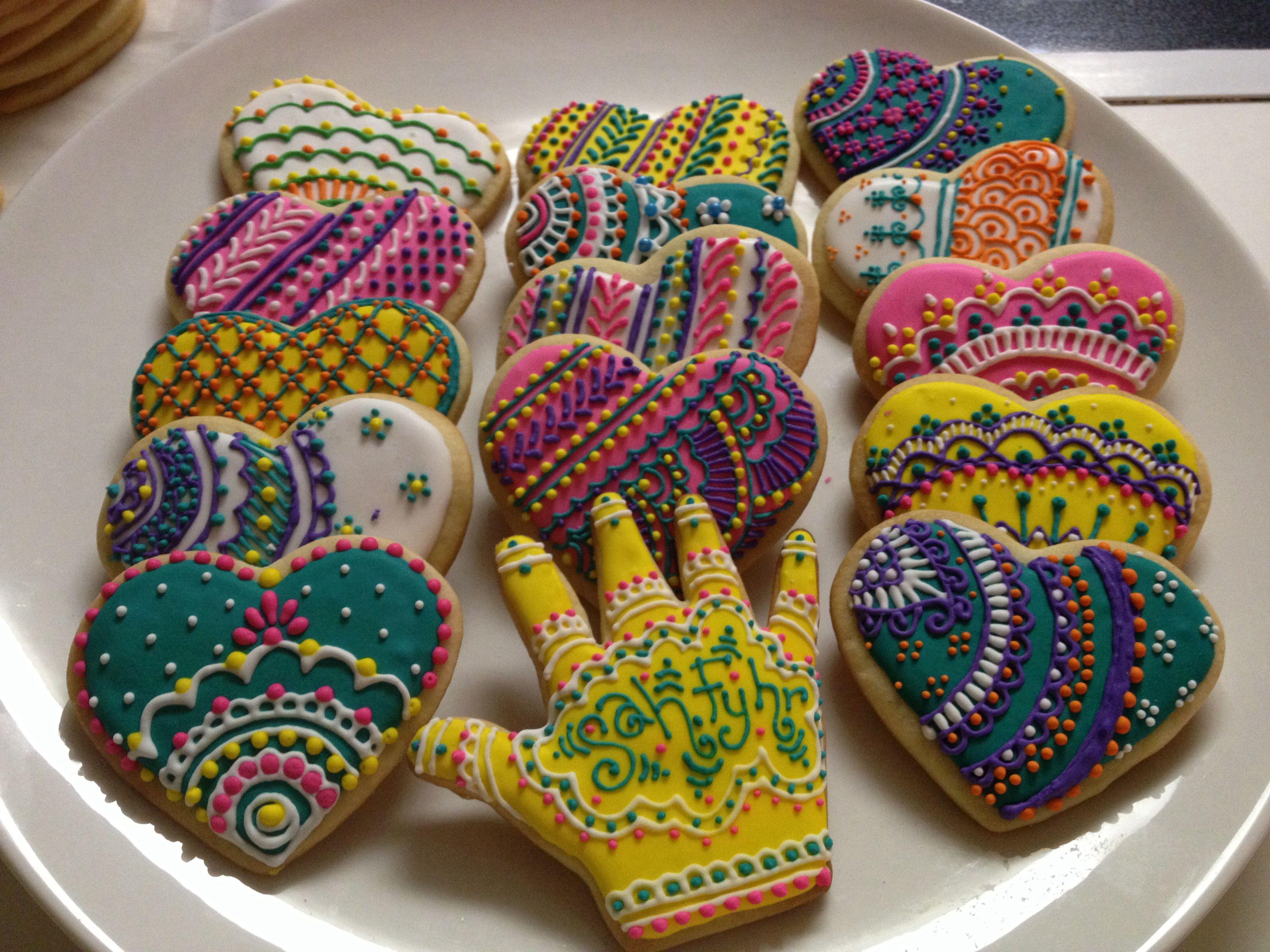 Mehndi Cake Recipe : Mehndi henna cookies pretty edibles pinterest