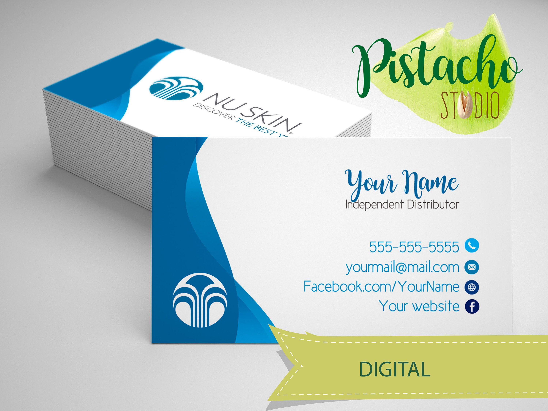 Digital NU Skin Business card- Skin Care Consultant DIstributor ...
