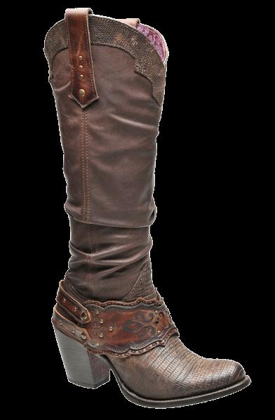 Cuadra Bota Dama Lizard Teju Fango, about $250 US | Botas
