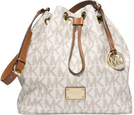 b1534a79022a Women's White Jules Large Drawstring Shoulder Bag   Michael kors ...