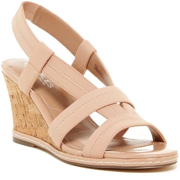 Charles By Charles David Hyper Wedge Sandal ($50) ❤ liked on Polyvore  featuring shoes