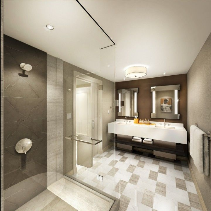 A Rendering Of A Julius Tower Bathroom At Caesars Palace