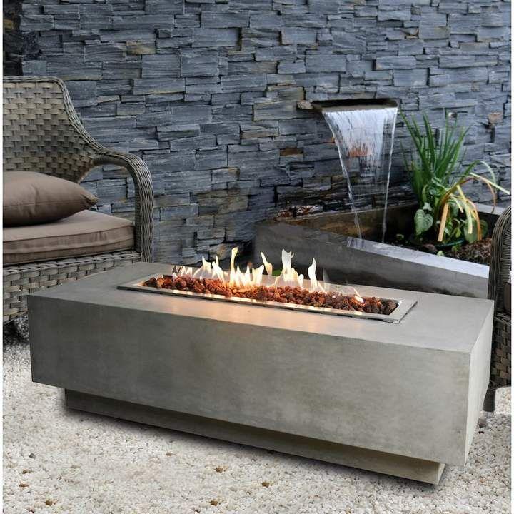 Orren Ellis Cheatwood Concrete Fire Pit Table Fuel Type Natural Gas Gas Fire Pit Table Fire Table Outdoor Fire Pit Designs