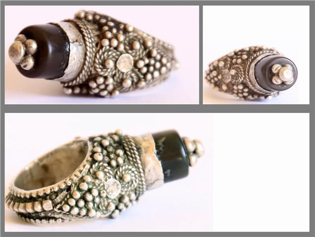 Antique Bedihi Yemeni Silver wedding ring made in the early XX