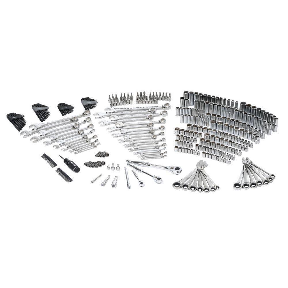 Husky 349 Piece Chrome Mechanics Hand Tool Wrench Socket Set