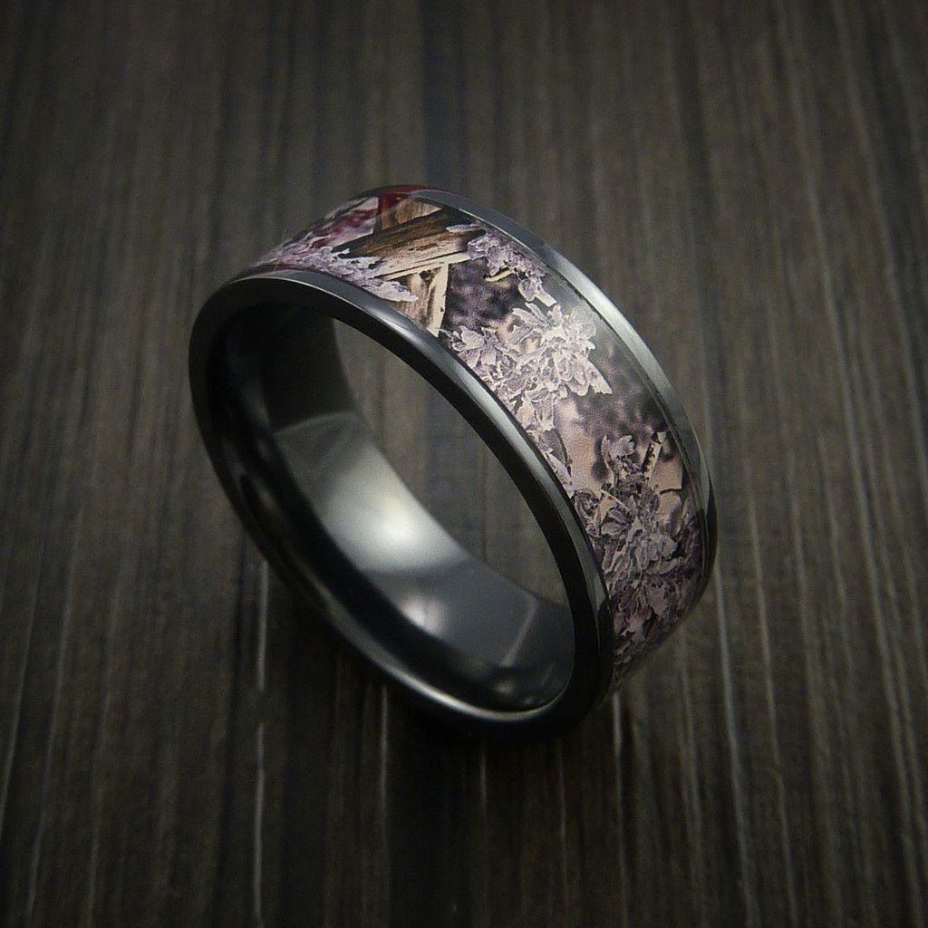 King's Camo DESERT SHADOW and Black Zirconium Ring ...